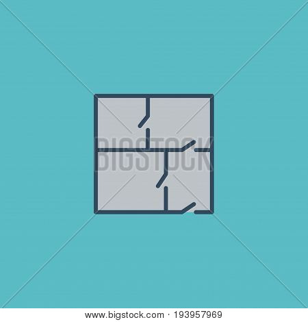 Flat Icon Property Plan Element. Vector Illustration Of Flat Icon Scheme Isolated On Clean Background. Can Be Used As Scheme, Property And Plan Symbols.
