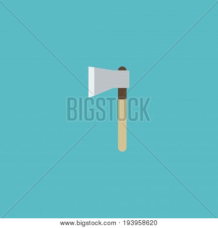 Flat Icon Hatchet Element. Vector Illustration Of Flat Icon Axe Isolated On Clean Background. Can Be Used As Hatchet, Axe And Ax Symbols.
