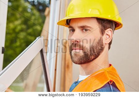 Craftsman as window fitter building new house