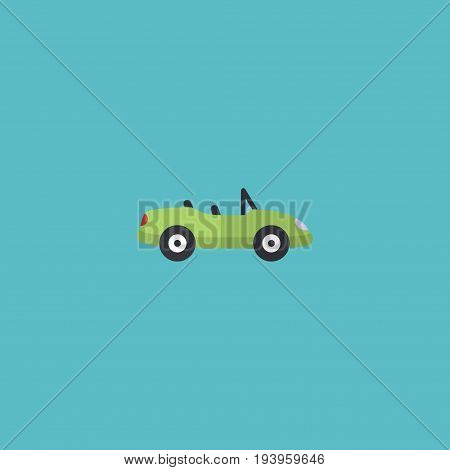 Flat Icon Cabriolet Element. Vector Illustration Of Flat Icon Car Isolated On Clean Background. Can Be Used As Car, Cabriolet And Coupe Symbols.