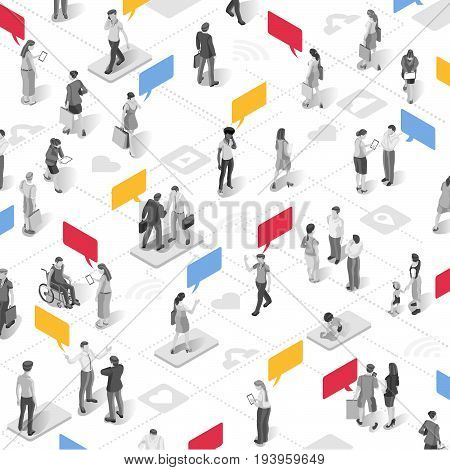 People businessperson marketing communication vector business isometric