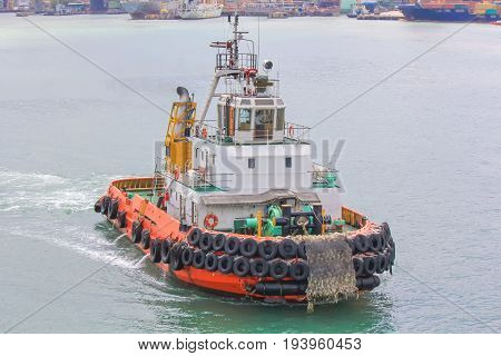 Tug boat company prepared to support every model. To leave the port.