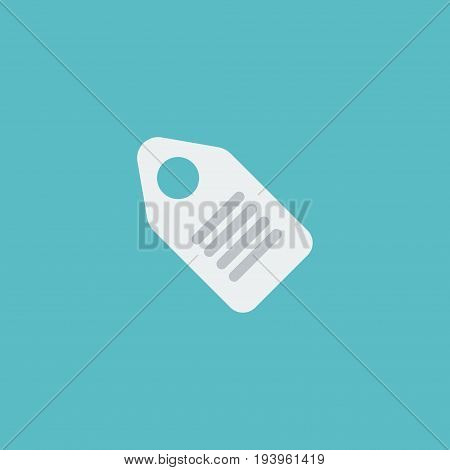 Flat Icon Price Tag Element. Vector Illustration Of Flat Icon Label  Isolated On Clean Background. Can Be Used As Price, Tag And Label Symbols.