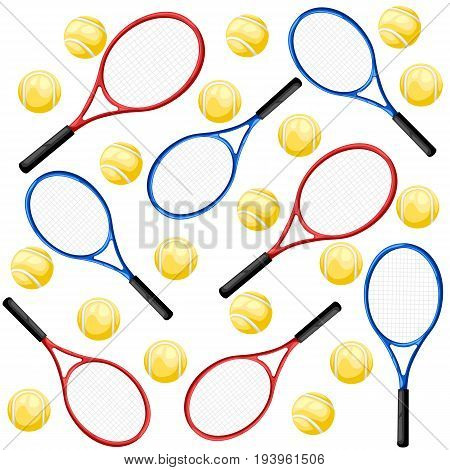 Tennis Rackets, Tennis Rackets Icon, Sport. Flat Design, Vector Illustration, Vector. Web Site Page