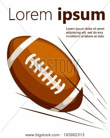 Ball American Football Oval Icon Vector Illustration. Web Site Page And Mobile App Design Vector Ele