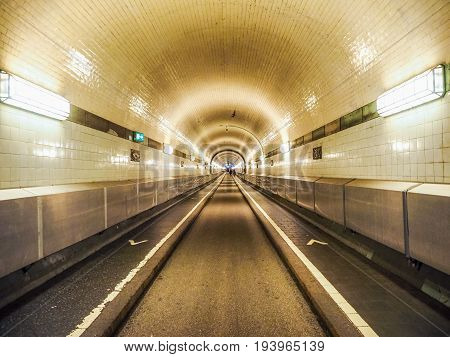 St Pauli Elbtunnel (st Pauli Elbe Tunnel) In Hamburg Hdr