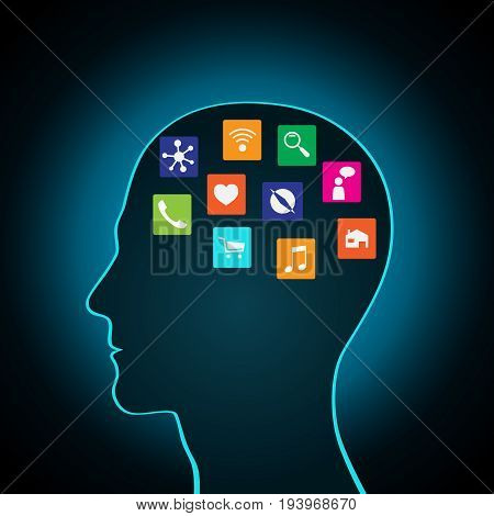 Mobile apps installed into the head, replacing the mind, consciousness