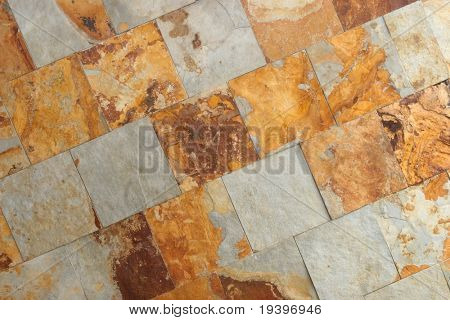 Wall from a decorative tile