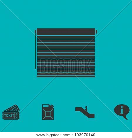 Blinds icon flat. Simple vector symbol and bonus icon