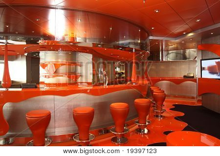 Magnificent interiors on cruise the ship