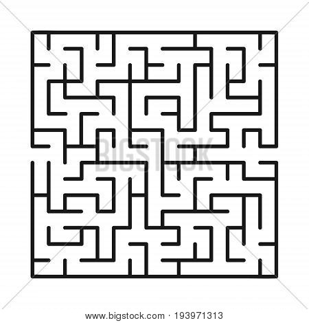 Abstract maze / labyrinth with entry and exit. Vector labyrinth 170.