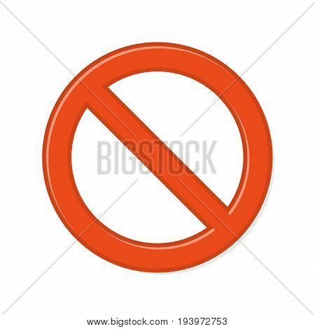 Prohibition Sign on White Background. Vector illustration