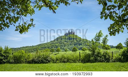 An image of the Castle Hohenzollern in south Germany
