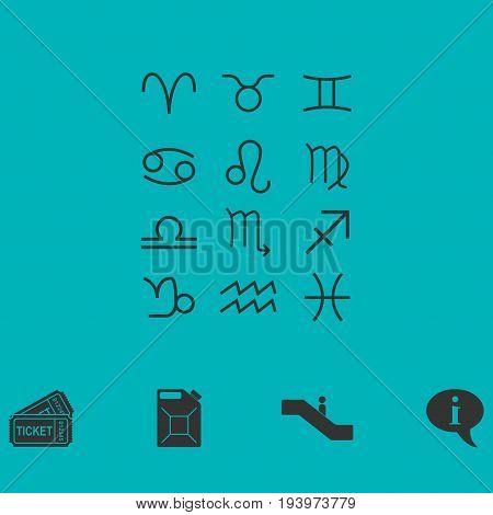 Zodiac icon flat. Simple vector symbol and bonus icon