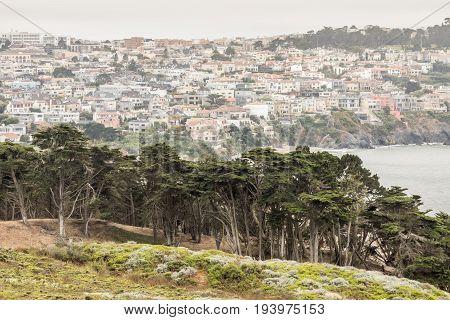 The Presidio and Richmond District. San Francisco, California, USA.
