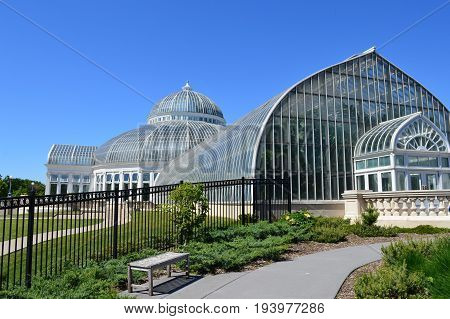 SAINT PAUL, MINNESOTA- JUNE 2017:  Como Zoo and Conservatory during the summer in St. Paul, MN.