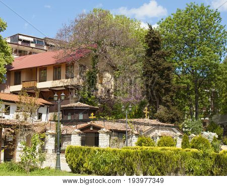 SAINTS CONSTANTINE AND HELENA, BULGARIA - MAY 14, 2017: Saints Constantine and Helena orthodox monastery in Saints Constantine and Helena resort near town Varna, founded in 16 century.