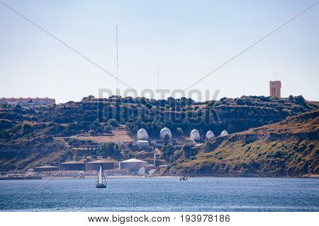 View Of Almada Via The Tagus From Lisbon