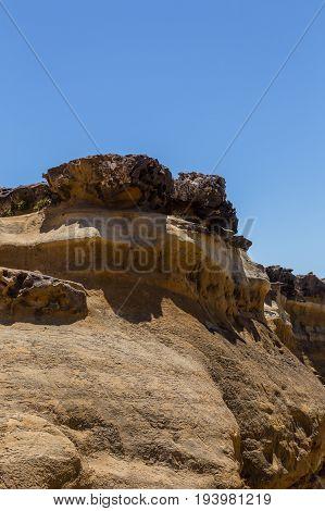 Rocks Nature Form After Erosion On Coastline