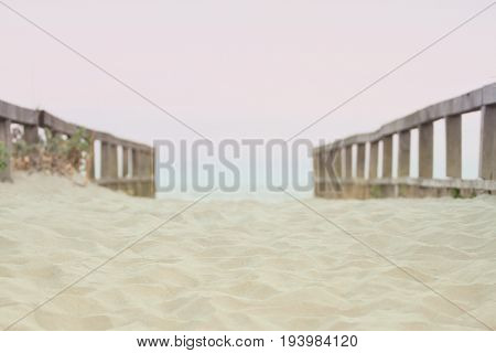 Background showing a path to the Black Sea beach in Sulina, Romania