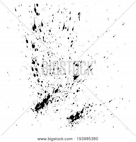 Vector design template ink splashes elements. Ink spray isolated on white