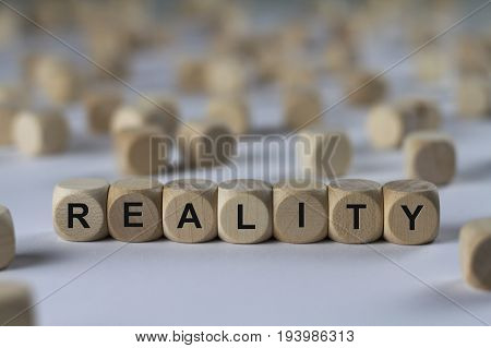 Reality - Cube With Letters, Sign With Wooden Cubes