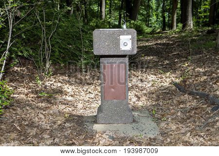 A drinking fountain on the trail at Washing ton Rock State Park