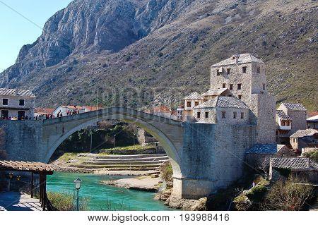 Old Bridge a Mostar in bosnia near croazia