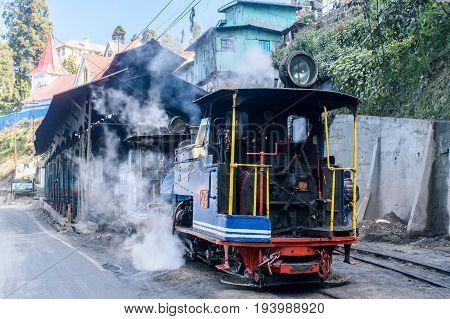 Darjeeling, west bengal, India on December 31,2016.The Darjeeling Himalayan Railway, also known as the Toy Train ,is a 2 ft narrow gauge railway that runs between New Jalpaiguri and Darjeeling .