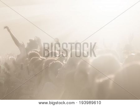 Crowd Of People On An Open Playground At A Concert
