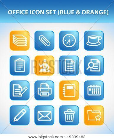 Office Icon Set (Blue & Orange)