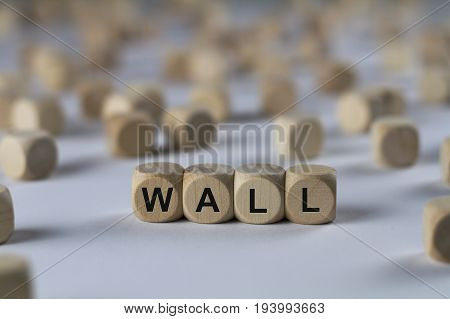 Wall - Cube With Letters, Sign With Wooden Cubes