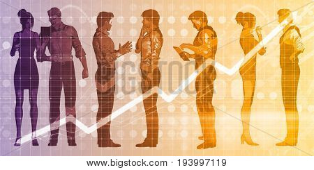 Business Networking Session for Corporate Professionals Meeting 3D Illustration Render