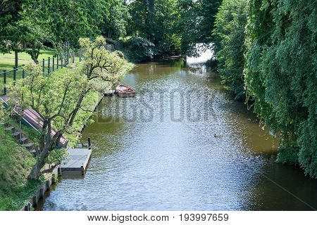 the small Harbor of ditzum in germany