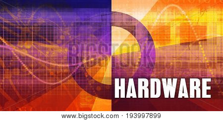 Hardware Focus Concept on a Futuristic Abstract Background