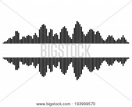 Equalizer Music Sound Wave Vector Symbol Icon Design.