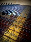 old wood nostalgic trembling strings with chords poster