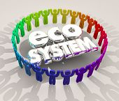 Ecosystem People Buyers Sellers Suppliers 3d Illustration poster