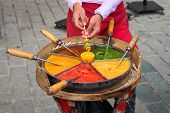 Sweet Traditional Ottoman Paste - osmanli macunu on the street of Istanbul poster