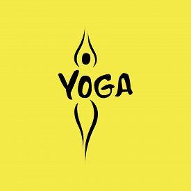 Yoga logo abstract design template linear style health spa meditation harmony logotype