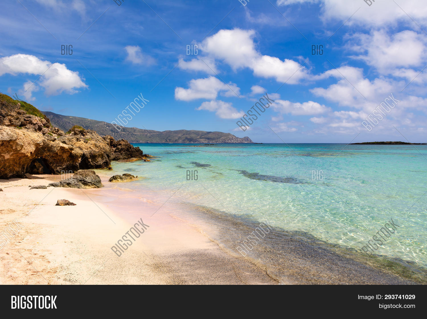 Elafonisi Beach Pink Image Photo Free Trial Bigstock