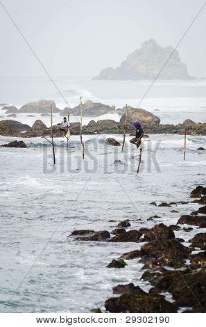 Traditional Sri Lanka's Sea Coast Fishing