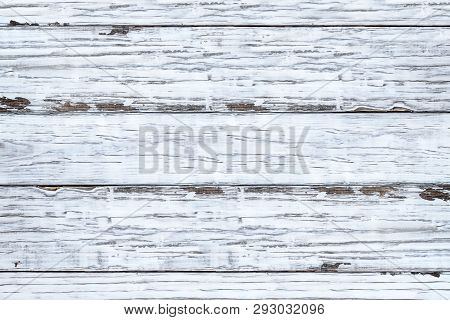 Bright White Wooden Texture Backdrop. Image Shot From Overhead View.