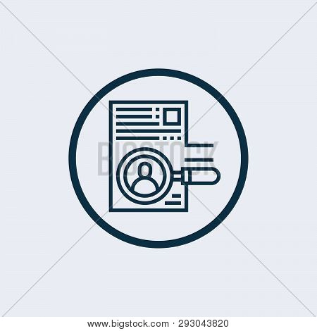 Curriculum Icon Isolated On White Background. Curriculum Icon Simple Sign. Curriculum Icon Trendy An