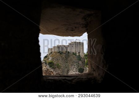 Dubrovnik, Croatoa - September 8, 2016: This Is A View Of The Medieval Lovrenac Fortress From From T