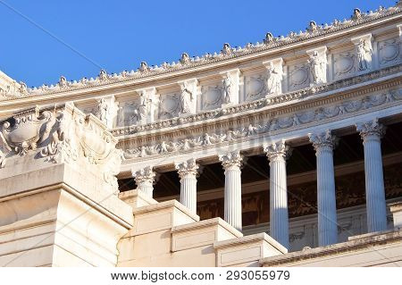 Rome, Italy - Circa September 2017. National Monument Of Victor Emmanuel Ii (monumento Nazionale A V
