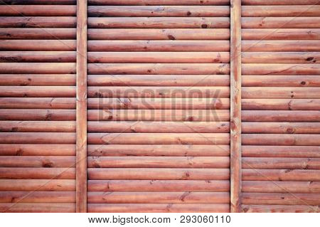 Texture Of The Wood, Wooden Boards. Old Wood Wall For Texture And Background. Brown Wooden Fence Pan