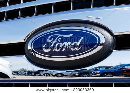 Lafayette - Circa April 2019: Local Ford Car And Truck Dealership. Ford Sells Products Under The Lin