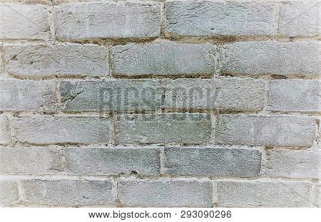 A Blank Textured Background Made Up Of Bricks Painted In White.