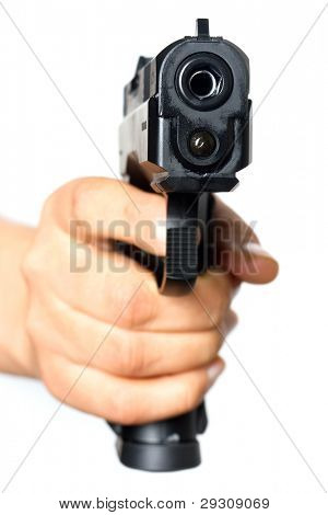 Gun pointed on you